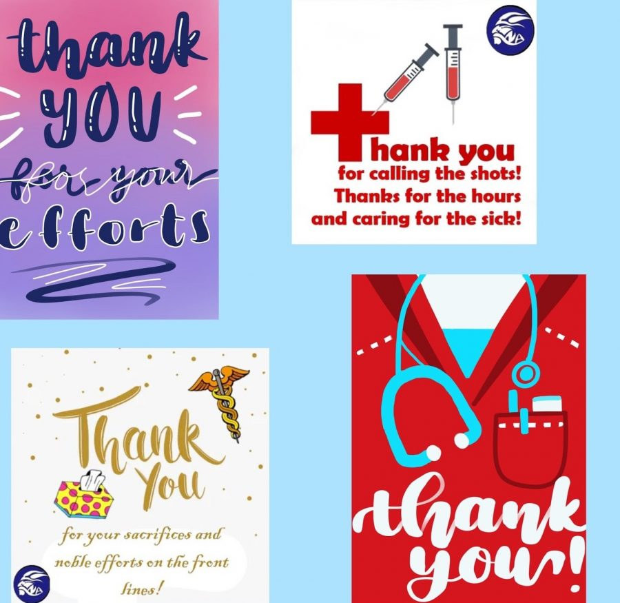 Homemade Cards for Healthcare Workers